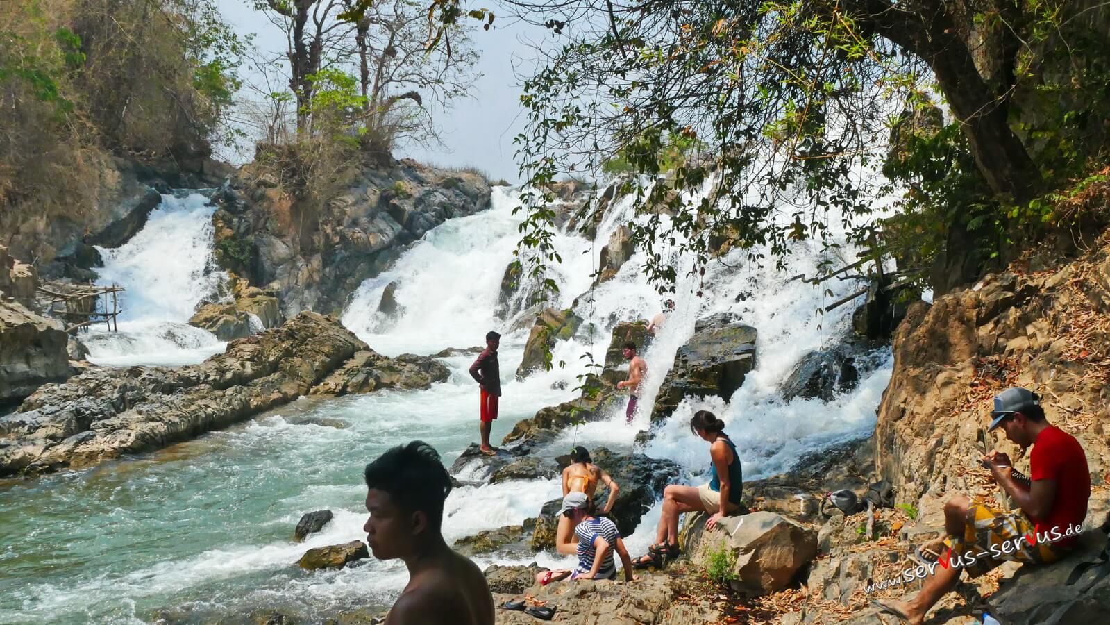 Don Det, Don Khone, Laos, Wasserfall, Khone Pa Soi, Mekong, 4000 Inseln