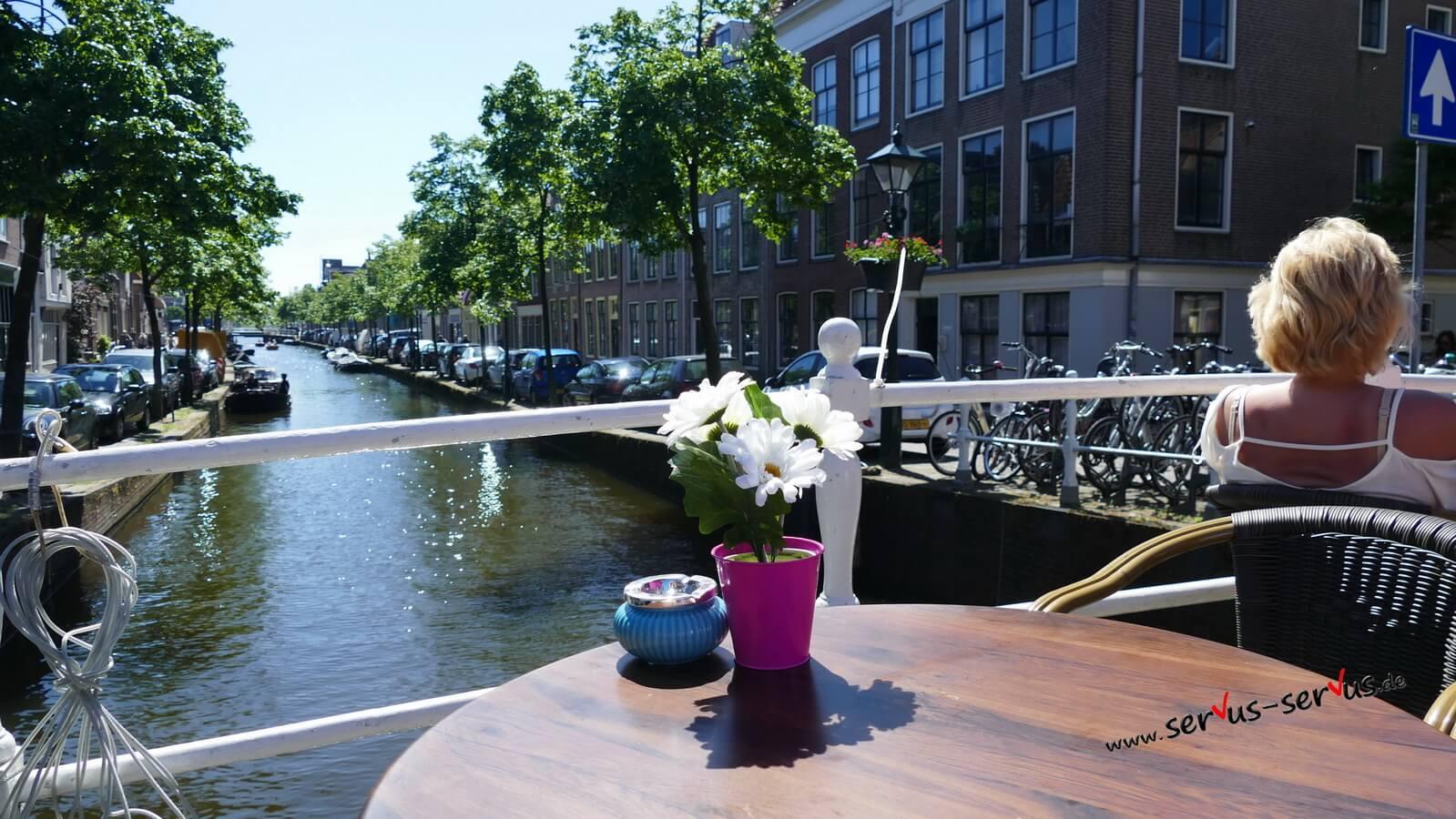 blich auf die Grachten in Alkmaar