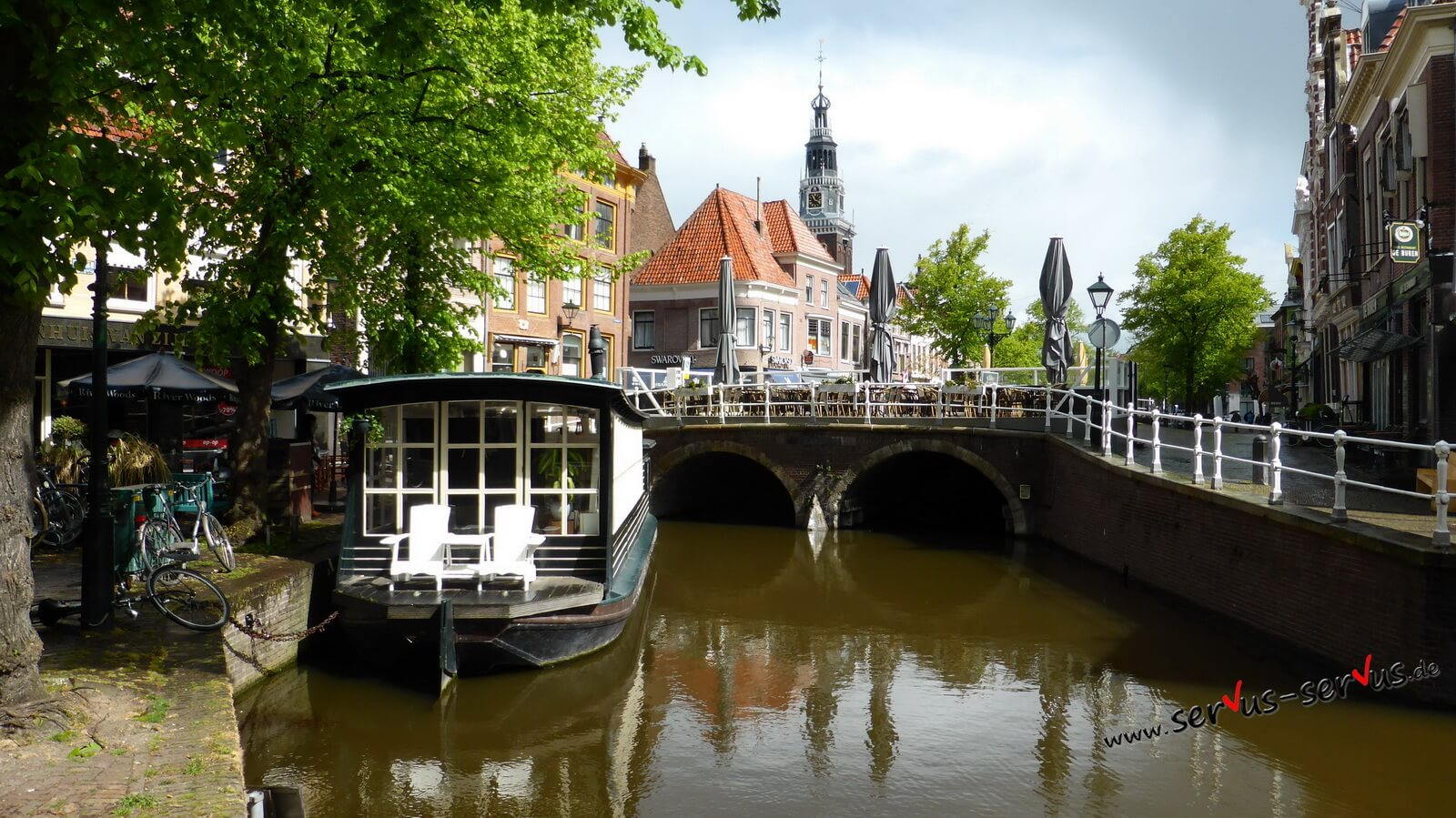 Alkmaar, Holland, Gracht, Boot