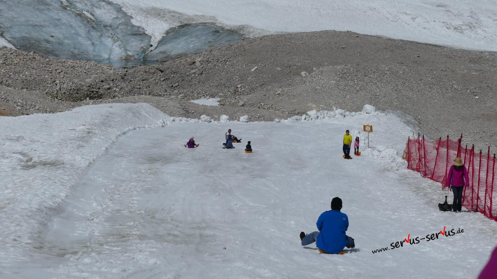 gletscher, Zugspitze, rodeln