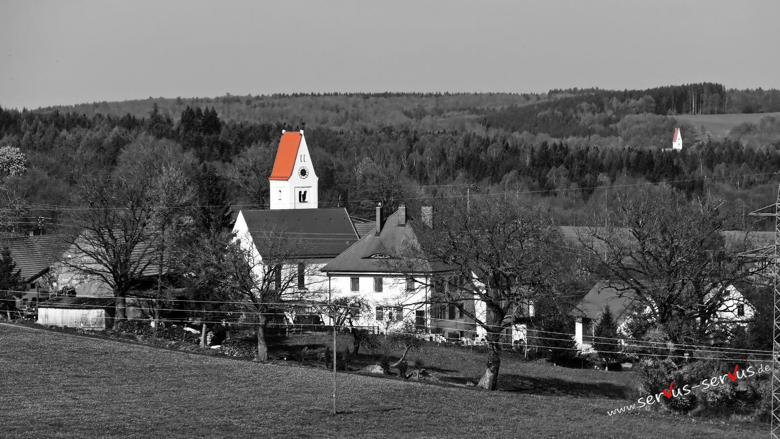 Rotes Kirchendach, colorkey