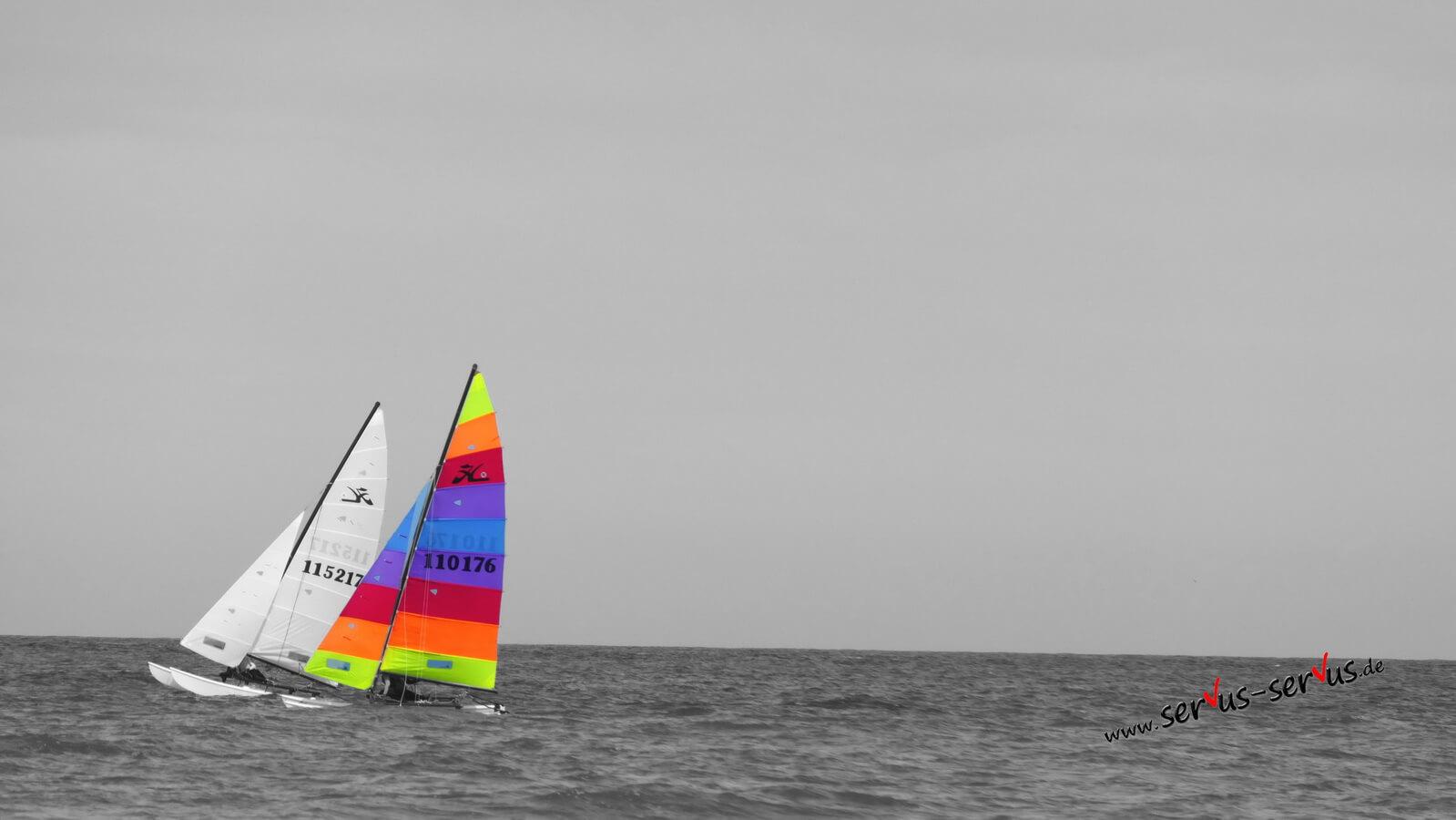 Segeln auf der Nordsee, colorkey
