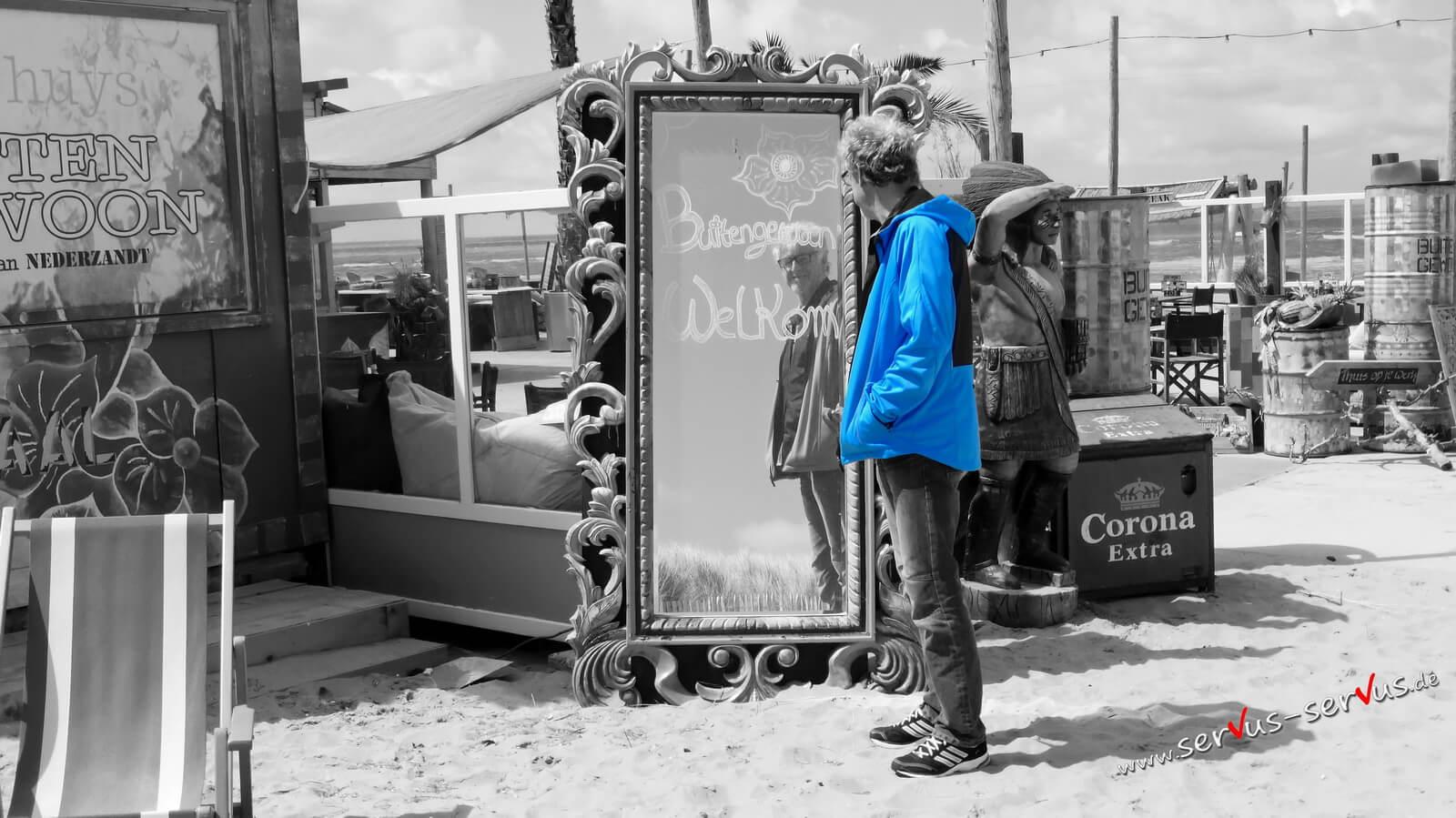 Selfi im Spiegel, colorkey