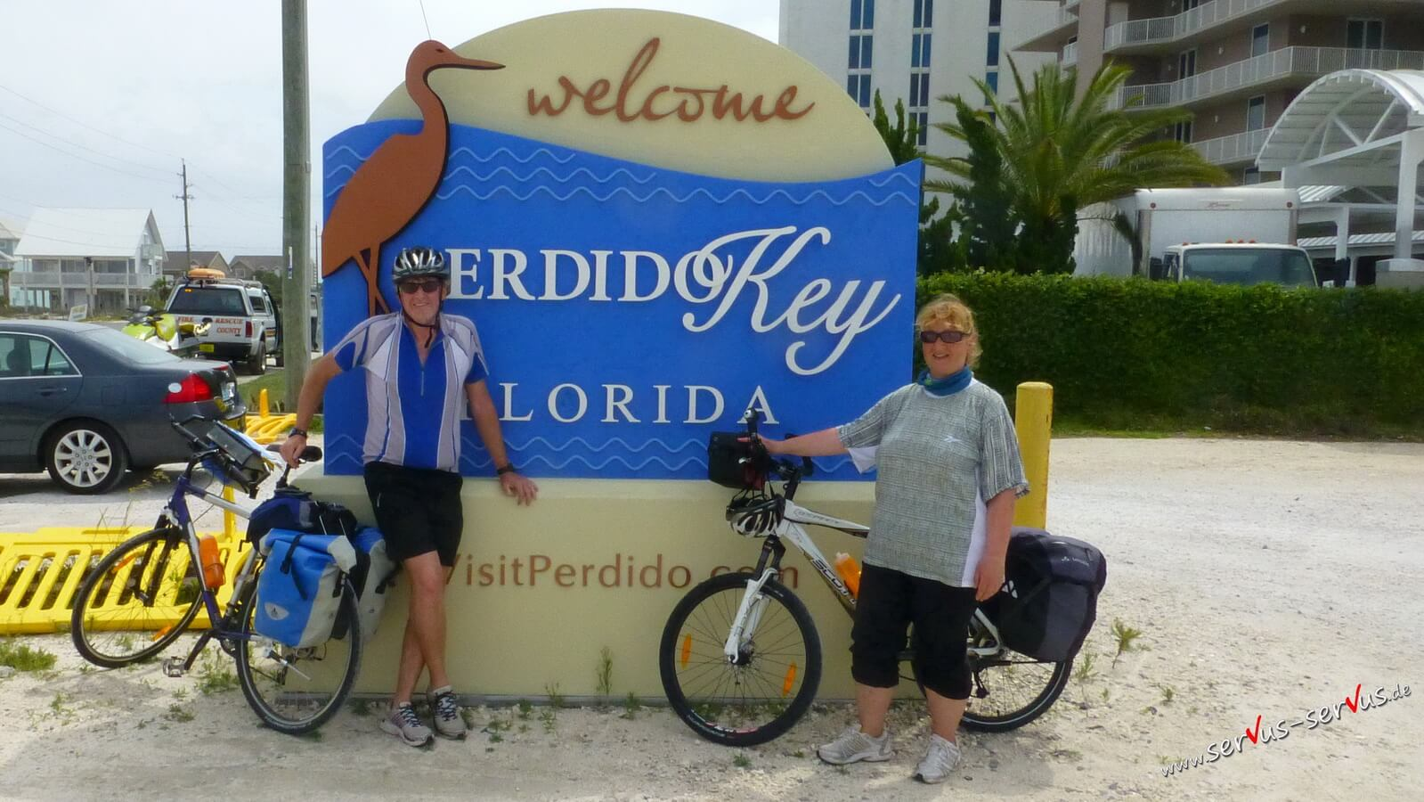 Mit dem Crossbike in Florida