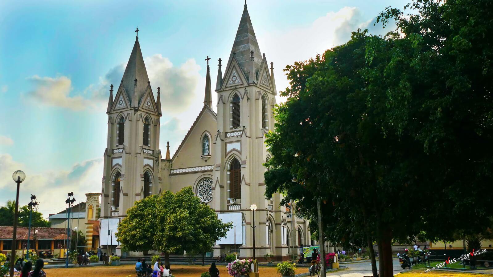 Die St. Sebastians Kirrche in Negombo, Sri Lanka
