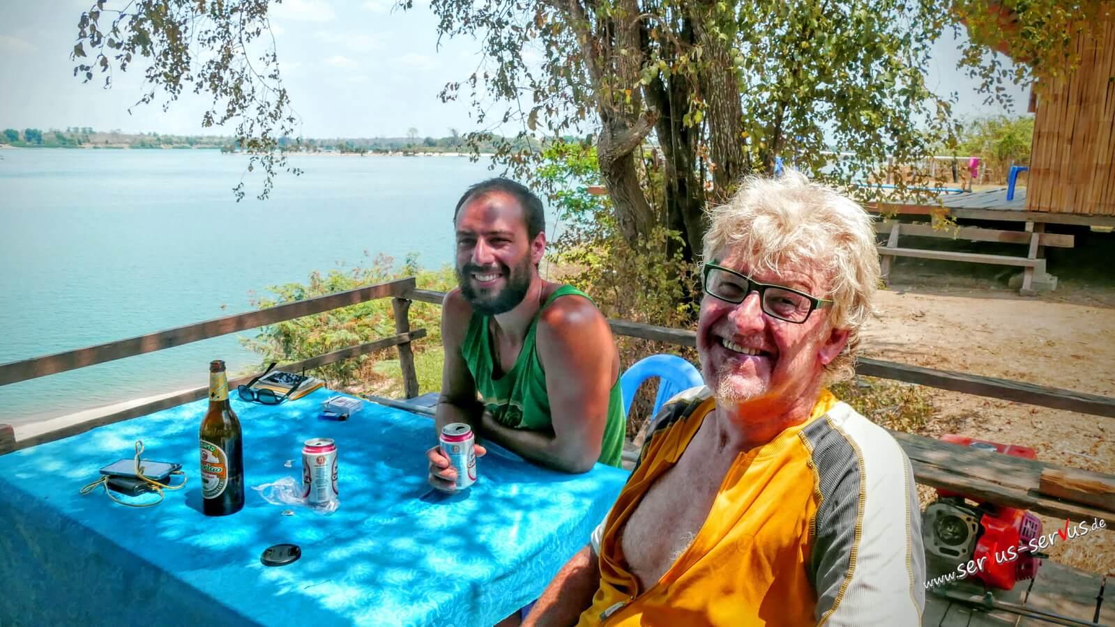 Marco, ich, Don Det, Laos